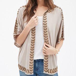 NWT {Forever 21} Beaded Kimono! Size M